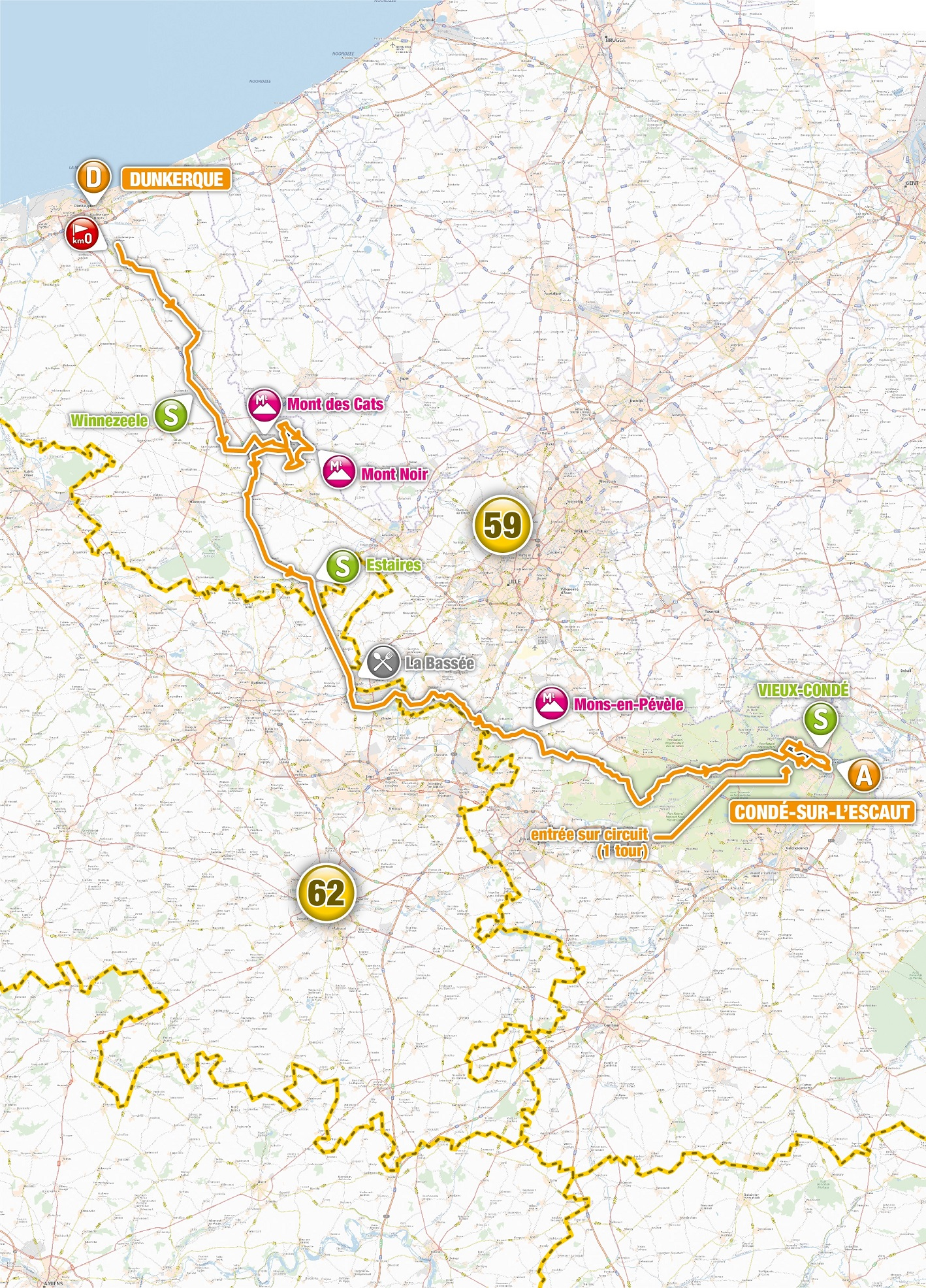 4 jours de dunkerque 2020 carte 4 Jours de Dunkerque : Le parcours 2019   Actualité   DirectVelo