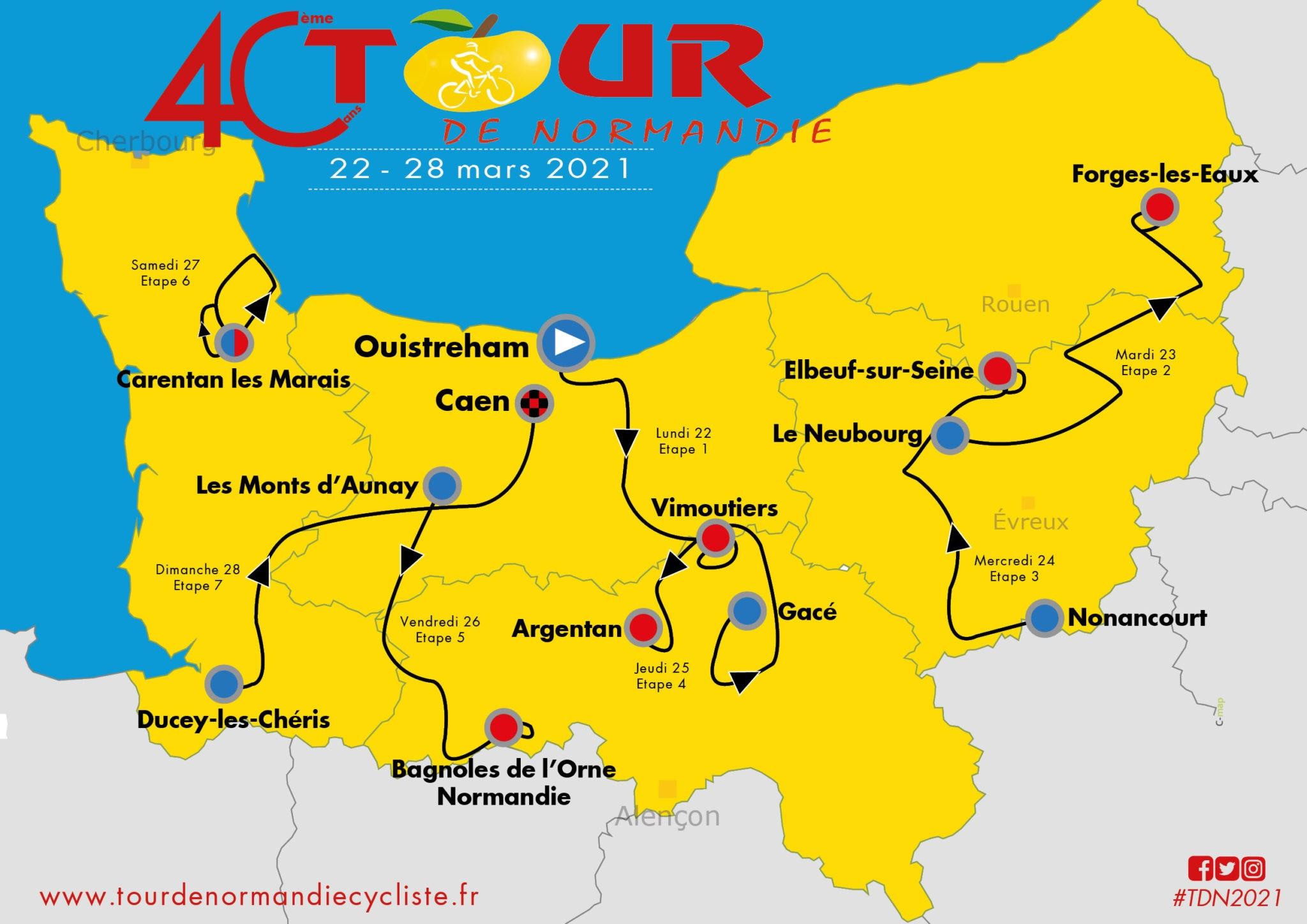 Tour de Normandie 2021 : Le parcours dévoilé   Actualité   DirectVelo