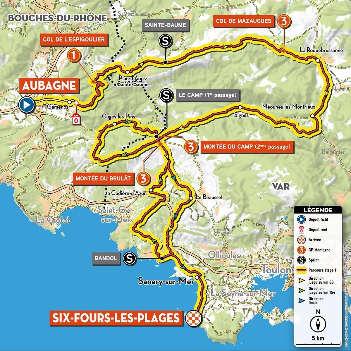 Tour De La Provence 2021 Le Parcours Detaille Actualite Directvelo